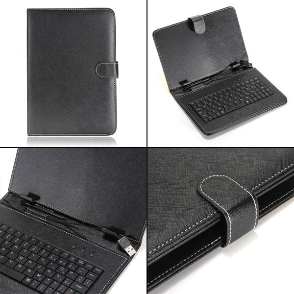 Folio PU Leather Keyboard Case Cover For 8/9/9.7/10 Inch Tablet