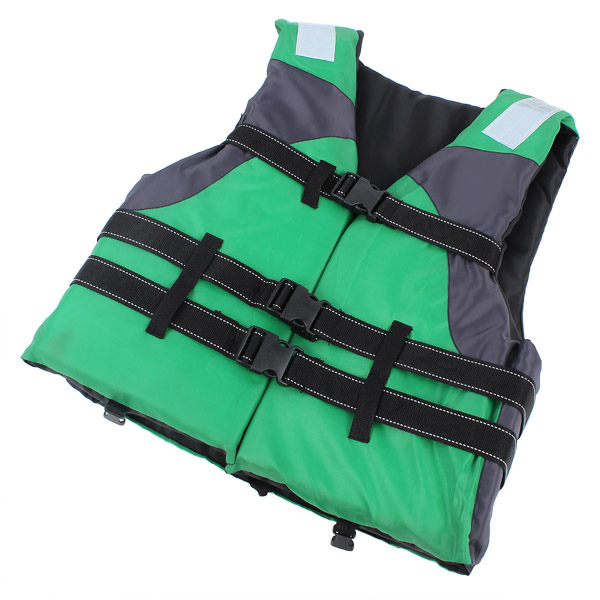 54×56cm Red Blue Yellow Green Adult Foam Life Jackets With Reflective Edge