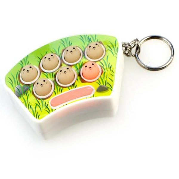 Coloured Lights Musical Whac-a-mole Game Machine Key Buckle Key Ring