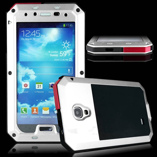 Aluminum Metal Water/Shock Proof Gorilla Glass Case For Samsung S4