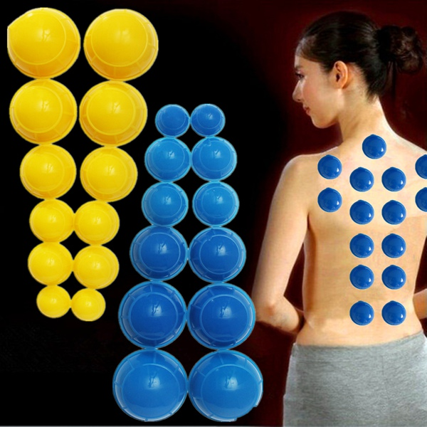 12pcs Mini Silicone Chinese Traditional Medical Cupping Cups