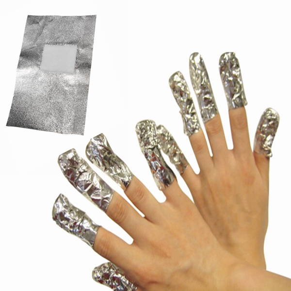 50Pcs Aluminous Foil Soak Off UV Gel Nail Remover Cleaner