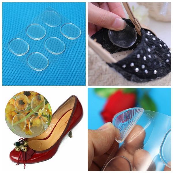 6Pcs Silicone Shoe Heel Gel Insoles Inserts Pad Liner Protector