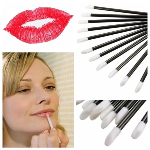 50Pcs Disposable Lip Lipstick Gloss Wands Brush