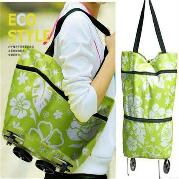 Large Outdoor Travel Shopping Trolley Wheel Foldable luggage Bag