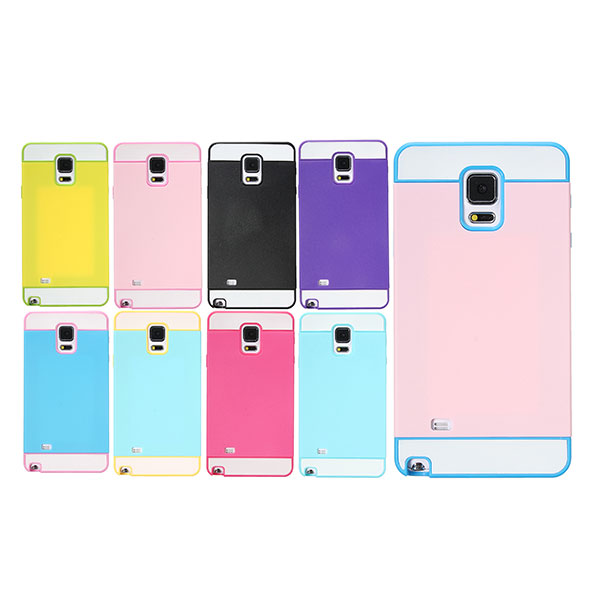 2 in 1 Hybrid Layer Hard Plastic Case For Samsung Galaxy Note 4 N9100