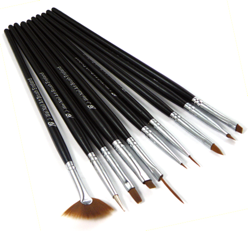 10pc Nail Art Design Drawing Painting Pen Brushes Set