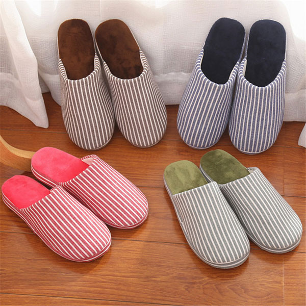 Winter Lover Home Indoor Keep Warm Plush Cotton Comfortable Soft Slipper