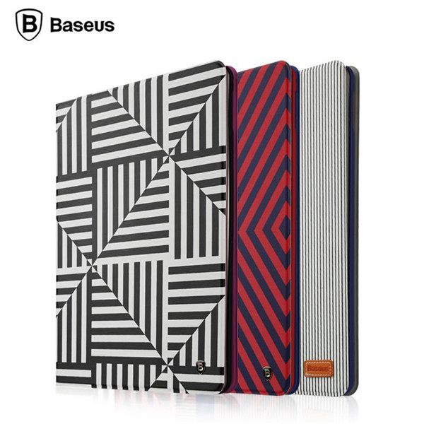 BASEUS Classic Series Slim Stripe Leather Flip Folding Case Cover For iPad Mini 1 2 3