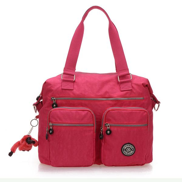 Women Nylon Handbags Casual Waterproof Shoulder Bags Multi Pocket Outdoor Crossbody Bags