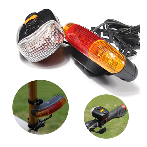 3-in-1 7 LED Cycling Turn Signal Brake Light Horn Indicator Warn