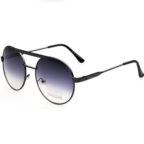 Big Black Round Frame Sunglasses Metal Fashion Cool