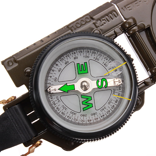 3 In 1 LED Military Marching Outdoor Camping 360 Lensatic Compass