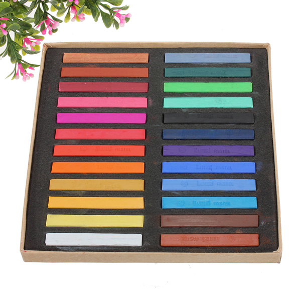 24 Colors Non-toxic Temporary Hair Color Chalk Square Hair Chalks