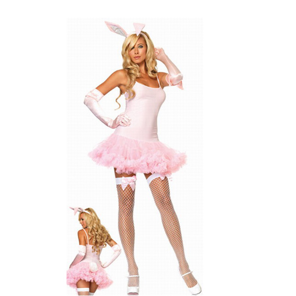 Pink Rabbit Costume  Seducing Sweet Cute  4 Piece Set