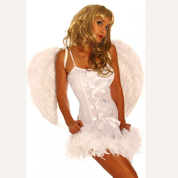 Costume For Adult Women Sexy Black And White Angel