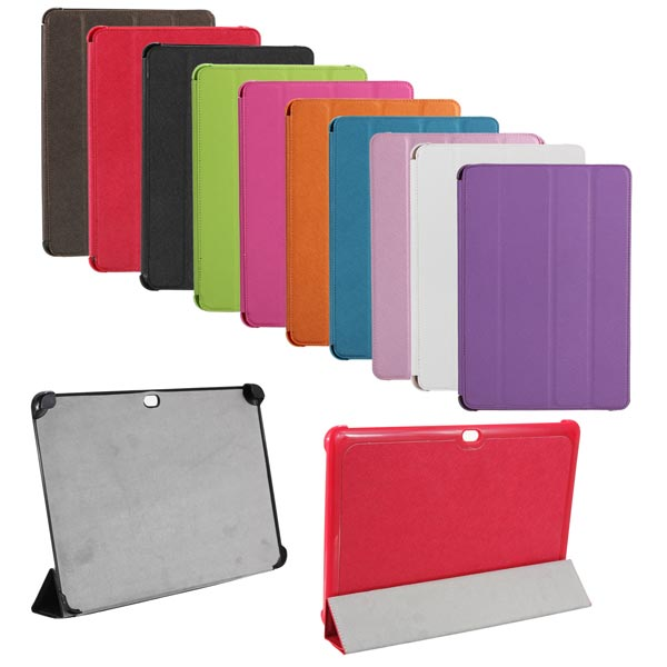 Fold Magnetic PU Leather Case Cover For Samsung P5100 P5110