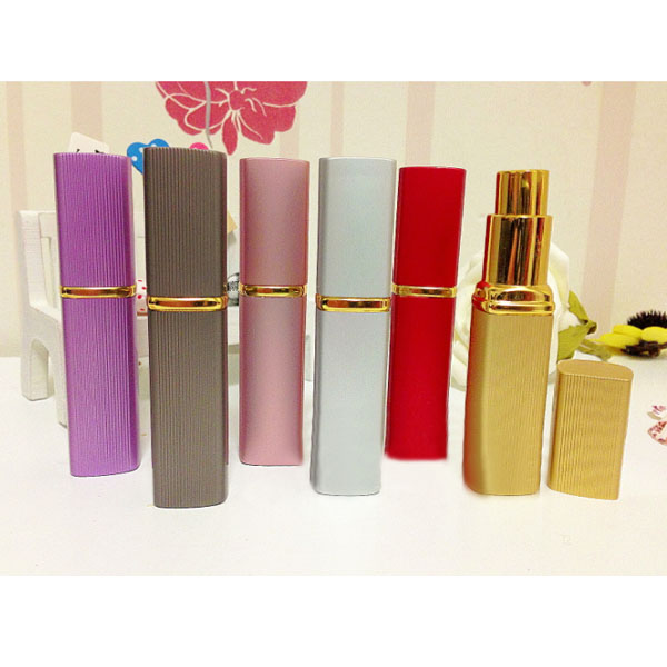 6 Colors Mini Travel Metal Perfume Spray Bottle