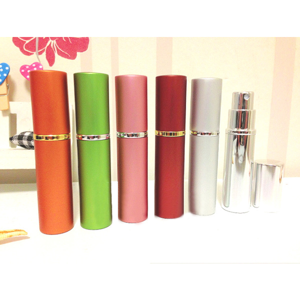 6 Colors Metal Mini Travel Perfume Spray Bottle