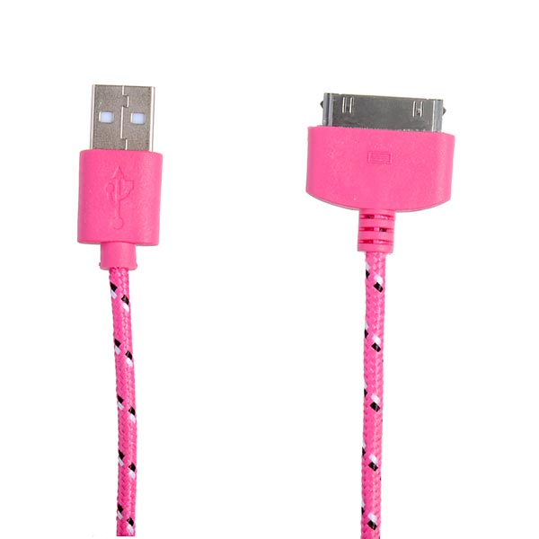 1M Fashion Design USB Date Charge Cable Weaving Design For iPhone 4 4S