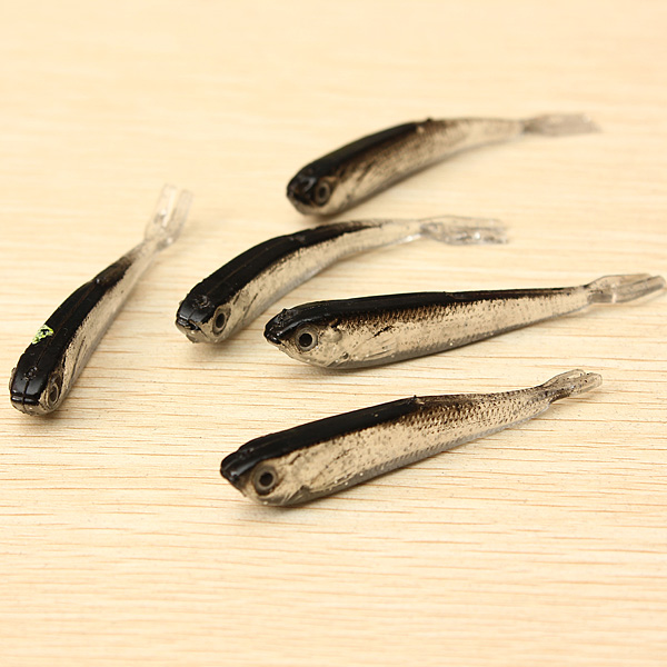 1Set 10PCS Soft Silicone Fishing Lure Bait Freshwater Saltwater