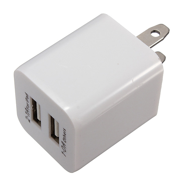 Universal US 5V 2.1A Dual USB Wall Charger Plug For iPhone iPad Tablet