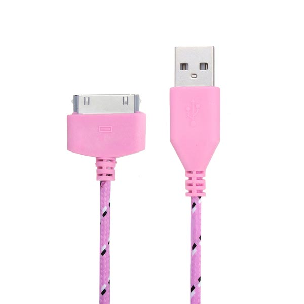3M Woven Pattern USB Charger Date Cable Cover For iPhone 4 4S