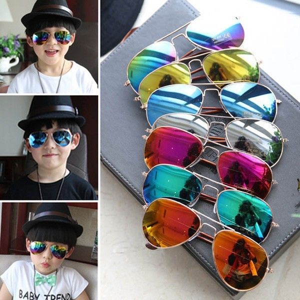 Outdoor Kids Sunglasses Mirror Reflective Lens Sunglasses