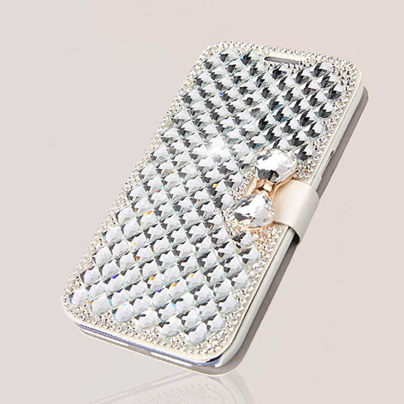 Luxury Bling Diamonds Rhinestone Wallet Cover Case For iPhone 6