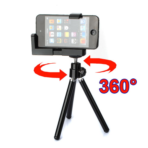 Mini Tripod Stand Holder Cover For iPhone 4 4S 5 5S Cellphone