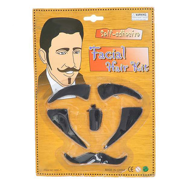 Costume Party Cosplay Self-Adhesive Facial Hair Kit New