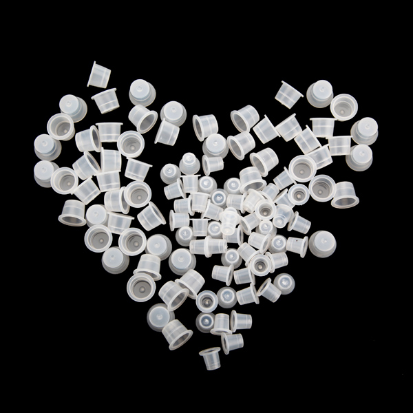 100 Plastic Tattoo Ink Cups Supplies Machine Kits