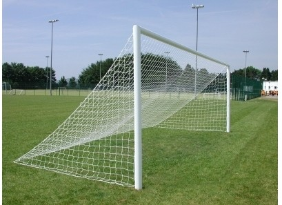 24ft x 8ft full size Senior straight back football goal post net