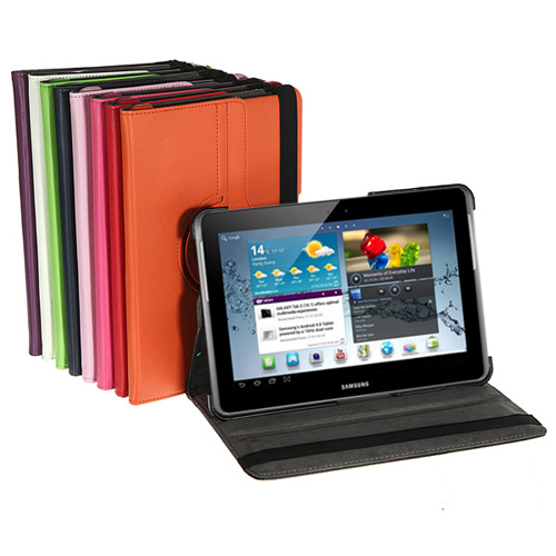 360 Degree Rotating PU Leather Case For Samsung Galaxy Tab 2 P5100