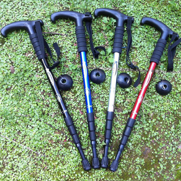 Height-adjustable Durable Telescopic Hiking Walking Stick 4 Color