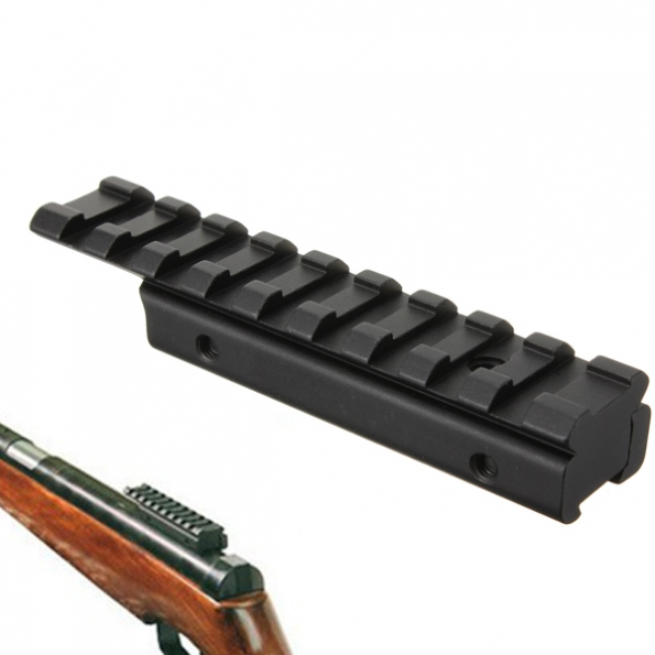 11mm to 20mm Rifle Tactical Dovetail Rail Extension Weaver Adapter