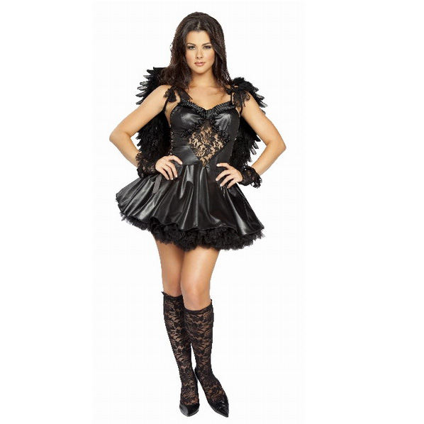 Costume Full Of Love Elegant Angel Black