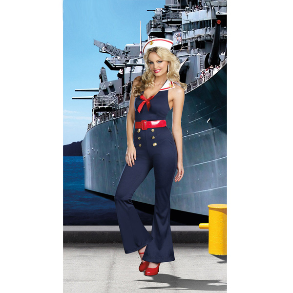 Seaman Sailor Uniform Cosplay Costume Sapphire Blue Temptation
