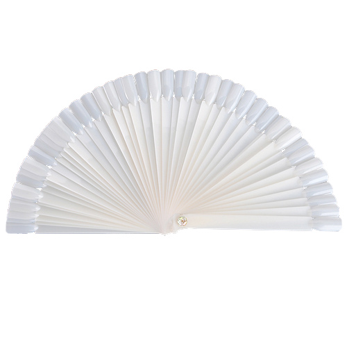 50pcs false nail art tips stick display fan board