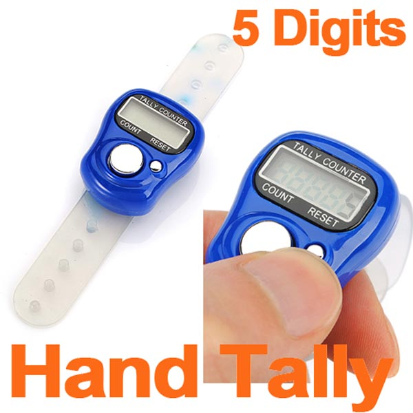 NEW LCD 5 Digit Digital Electronic Ring Tally Counter