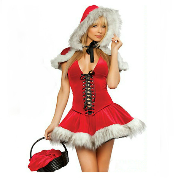 Christmas Outfit Sexy Hoodwinked Costume Hoodie Dress