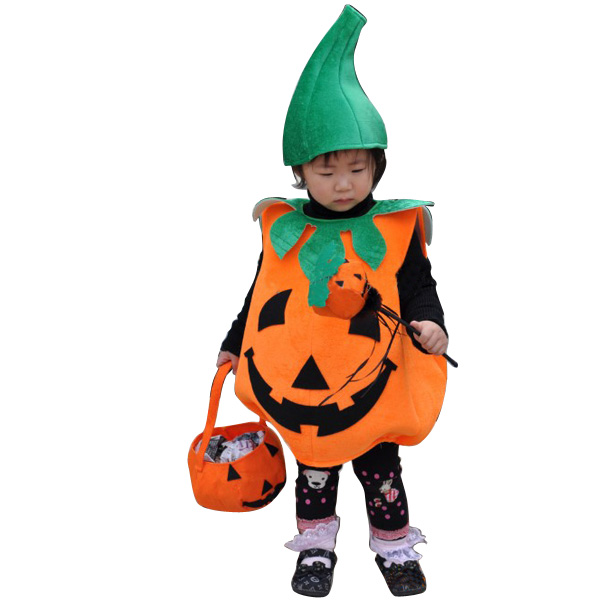 Halloween Kids Baby Pumpkin Costume Cosplay Accessories