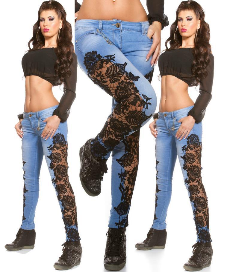 2016 Style Hot Jean Womens Low waist Denim Pencil Pants Skinny Jeans F