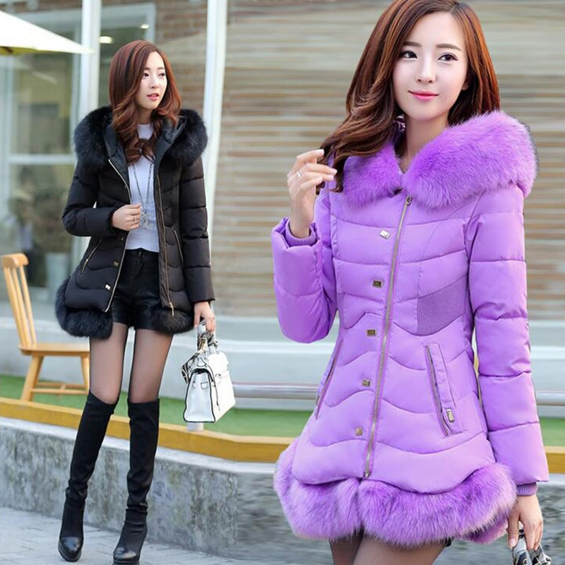 2016 New Fashion Women's Winter Jacket Slim Thicken Rivet Female Cotto