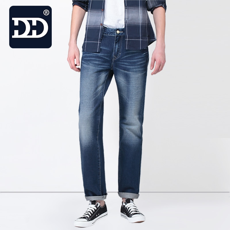 60% OFF  New Slim Fit Casual Pants Deep Blue Jeans Men Stretch Chinese