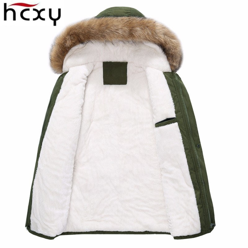 and Ms Coats Thick Warm Casual Fur Collar Coat Winter Windproof Hooded