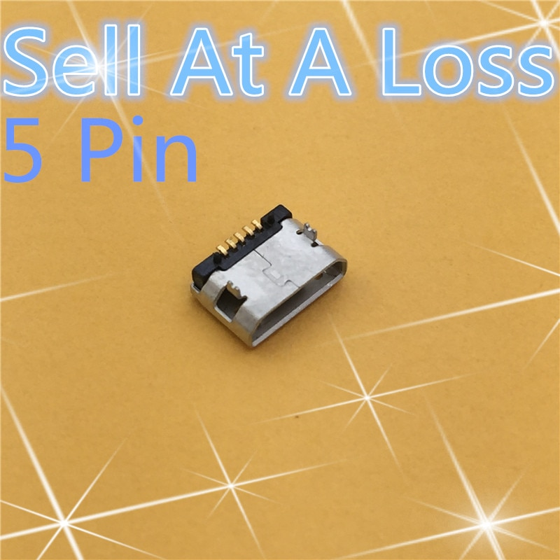 Micro USB 5pin Female Connector For Mobile Phone Micro USB Charging S