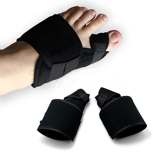 1 Pair Useful Black Big Toe Bunion Splint Straightener Hallux Valgus C