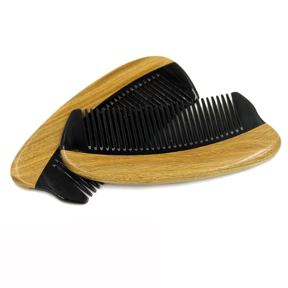 & Styling Horn Wood Pocket Beard Hair Comb Fine Tooth Natural Handmade