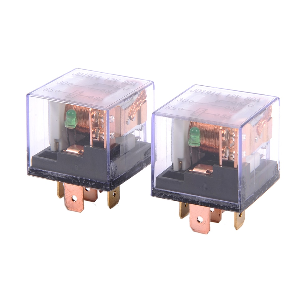 80A double contact transparent shell relay  Fast connection socket ty